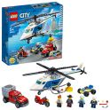 LEGO City 60243 Конструктор ЛЕГО Город Погоня на полицейском вертолёте