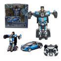 1toy T10862 Робот на р/у 2,4GHz, трансформирующийся в Спортивный автомобиль, 30 см, синий