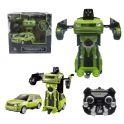 1toy T10866 Робот на р/у 2,4GHz, трансформирующийся в Джип, 20 см, зелёный