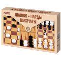 """Десятое королевство TD03872 Игра настольная """"Шашки, Нарды, Шахматы"""" (большие)"""