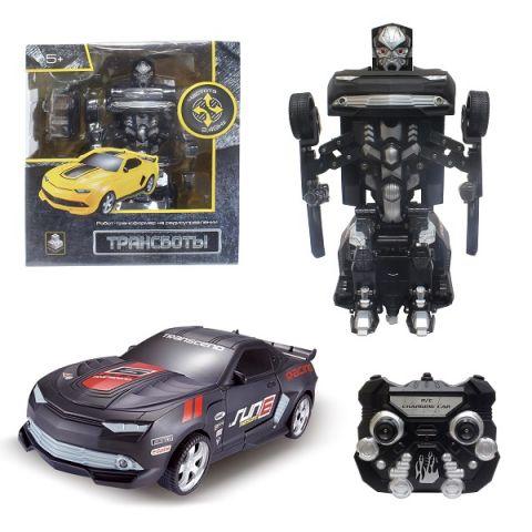 1toy T10863 Робот на р/у 2,4GHz, трансформирующийся в Маслкар, 30 см, чёрный