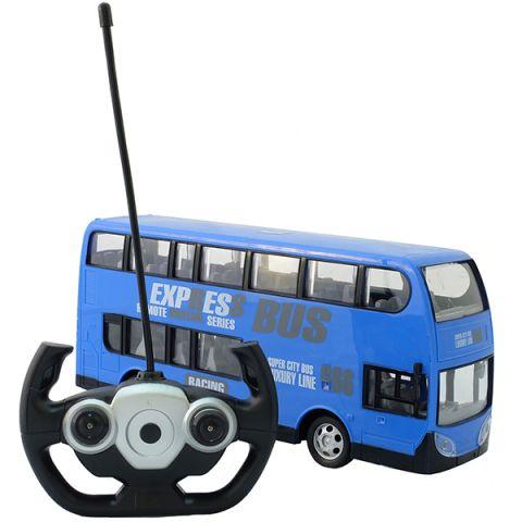 HK Industries 666-691AB Автобус двухэтажный синий, р/у