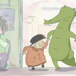 Бабушка с крокодилом