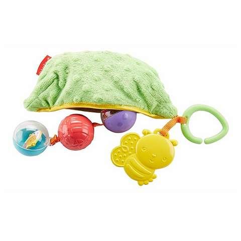 "Mattel Fisher-Price DRD79 Фишер Прайс Плюшевая игрушка-погремушка ""Горошек"""