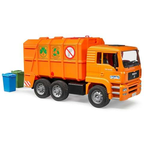 Bruder 02-760 Мусоровоз MAN TGA, цвет оранжевый