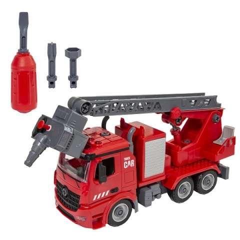 Wincars YK-2219 Пожарная часть Разборная инерционная машина с водомётом, звук, свет