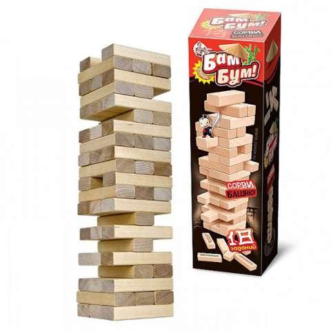 """Десятое королевство TD01741 Игра для детей и взрослых """"Бам-бум"""" (падающая башня)"""