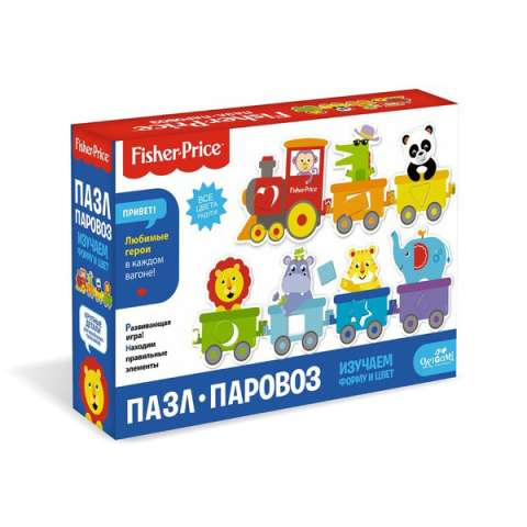 """Origami OR05148 Fisher Price Пазл """"Паровозик"""", 7 элементов"""