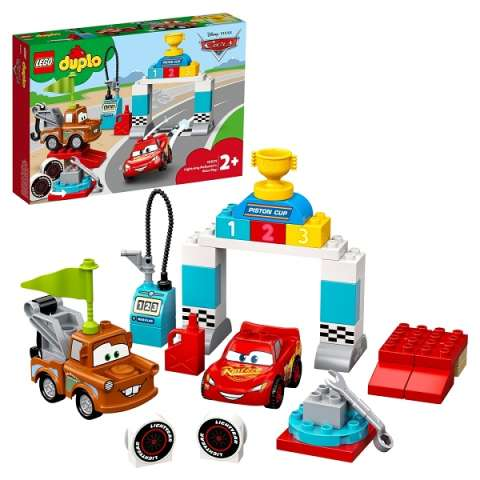 LEGO DUPLO Cars 10924 Конструктор ЛЕГО ДУПЛО Тачки Гонки Молнии МакКуина