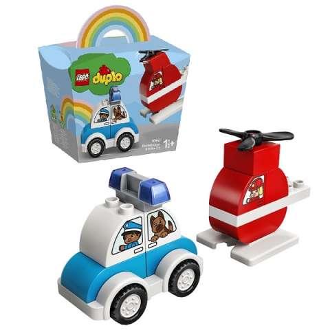 LEGO DUPLO 10957 Конструктор ЛЕГО Дупло Пожарный вертолет и полицейский автомобиль