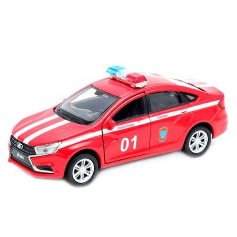 "Welly 43727FS Велли Модель машины 1:34-39 LADA Vesta ""Пожарная охрана"""