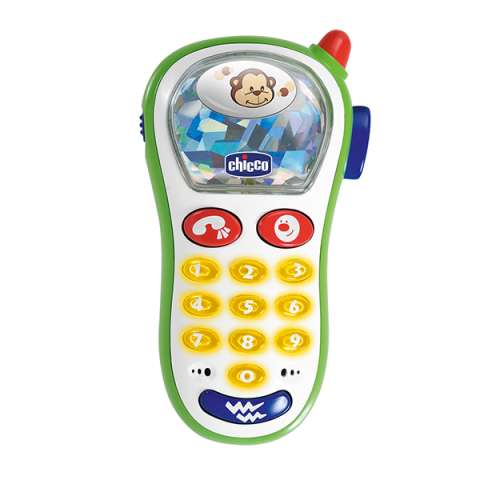 CHICCO TOYS 60067A Игрушка телефон музыкальный с фото с 6 месяцев