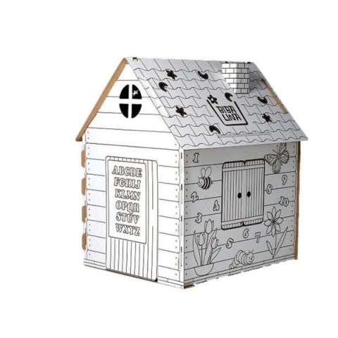 Бибалина BL-4002 Домик-раскраска картонный (Английский алфавит)