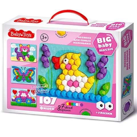 """BABY TOYS TD02518 Мозаика для самых маленьких """"Утенок"""", (107 эл.)"""