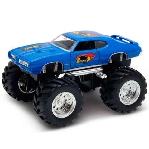 Welly 47008S Велли Модель машины 1:34-39 Pontiac GTO Wheel Monster