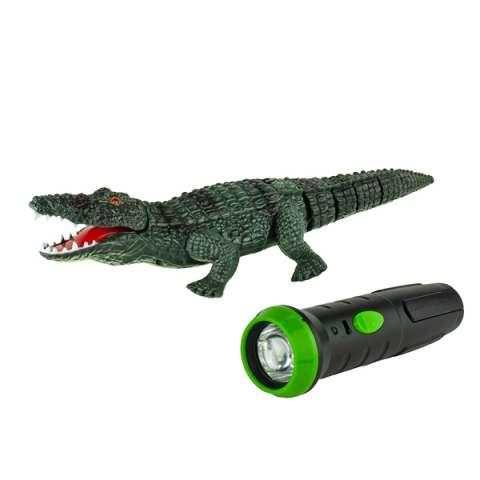 1toy T16445 Робо-Крокодил на ИК управлении (звук, свет, движение)